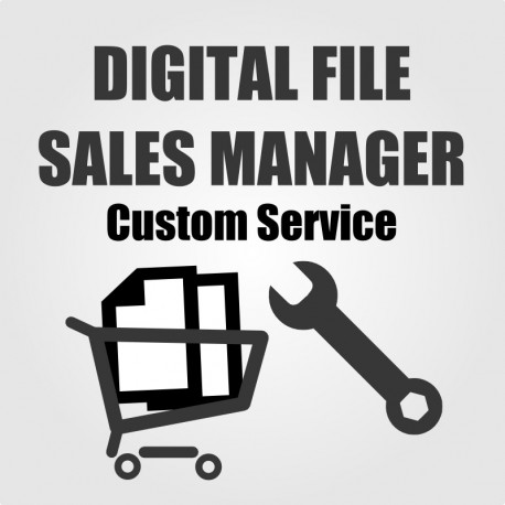 Digital File Sales Manager custom service